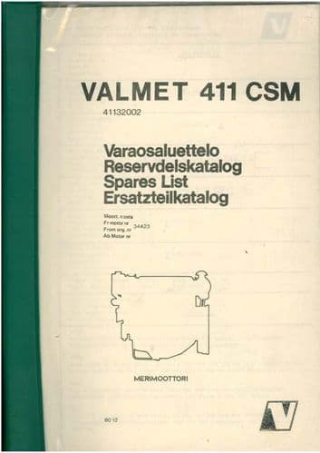 Valmet Diesel Engine 411 CSM Parts Manual
