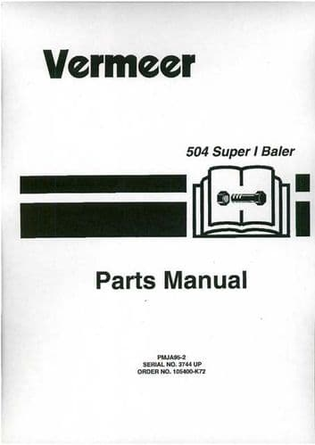 Vermeer Baler 504 Super Parts Manual