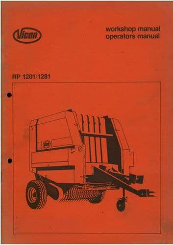 Vicon Baler RP1201 & RP1281 Operators Manual