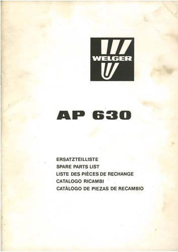Welger Baler AP630 Parts Manual