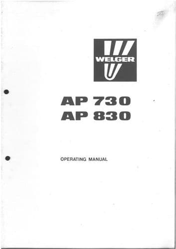 Welger Baler AP730 & AP830 Operators Manual