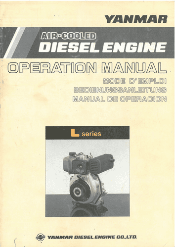 Yanmar Engine L Series Operation Manual