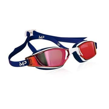 Aquasphere Michael Phelps Exceed White/Blue/Red Mirror Swimming Goggles