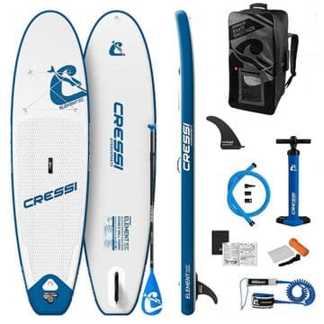"""CRESSI Element 10'2"""" White/Blue SUP Package"""