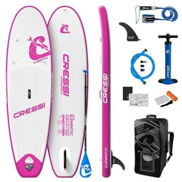 """CRESSI Element 9' 2"""" White/Pink SUP Package"""
