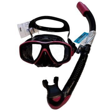 Tusa Ceos Mask and SP170 Snorkel BLACK/ HOT PINK
