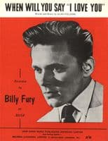 Billy Fury - When Will You Say I Love You - Mint