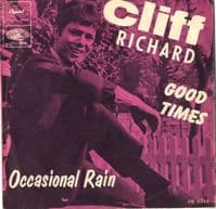 Cliff Richard - Good Times/Occasional Rain (DB 8548) With Picture Sleeve