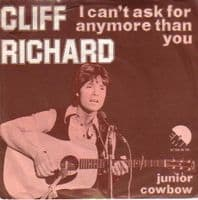 Cliff Richard - Holland - I Can't Ask For Any More Than You/Junior Cowboy (006 06 190)