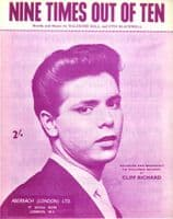 Cliff Richard - Nine Times Out Of Ten - Mint