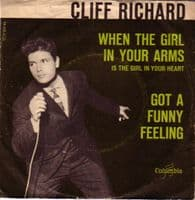 Cliff Richard - Norway - When The Girl In Your Arms../Got A Funny Feeling (db 4716)