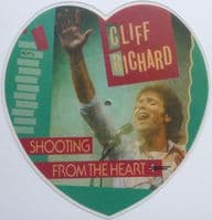Cliff Richard - Shooting From The Heart/Small World (RICHP 1) Heart Shaped Picture Disc