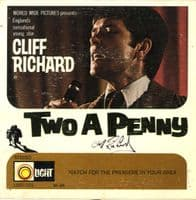 Cliff Richard - USA - Two A Penny (LSEP 101) Autographed