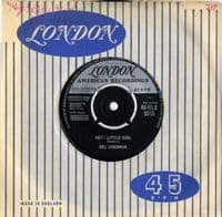 Del Shannon - Hey ! Little Girl/You Never Talked About Me (HLX 9515)