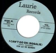 Dion And The Belmonts - I Can't Go On (Rosalie)/No One Knows (3015)