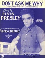 Elvis Presley - Sheet Music - Don't Ask Me Why - Mint