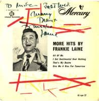 Frankie Laine - More Hits .. All Of Me (MEP 9500) Autographed