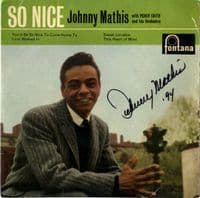 Johnny Mathis - So Nice (TFE 17215) Autographed