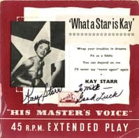 Kay Starr - What A Star Is Kay (7 EG 8165) Autographed