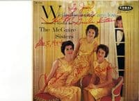 McGuire Sisters,The - While The Lights Are Low (CRL 57145) Autographed