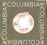 Paul Evans - One Red Rose/Bound To Silence (4-44472) Promo - M-