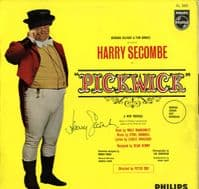 Pickwick - London Cast Recording (AL 3431) - Sleeve autographed by Harry Secombe
