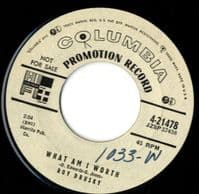 Roy Drusky - What Am I Worth/Come On Back And Love Me (4-21478) Promo