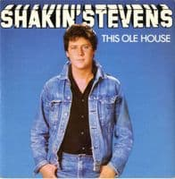 Shakin' Stevens - This Ole House/Let Me Show You How (9555)  Paper Labels M-/M-