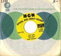 Sheb Wooley - That Girl (Next Door)/I Remember Loving You (K 14005) - Promo - M-